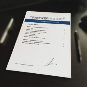 Transfer Pricing Template Agreement Head Office Services