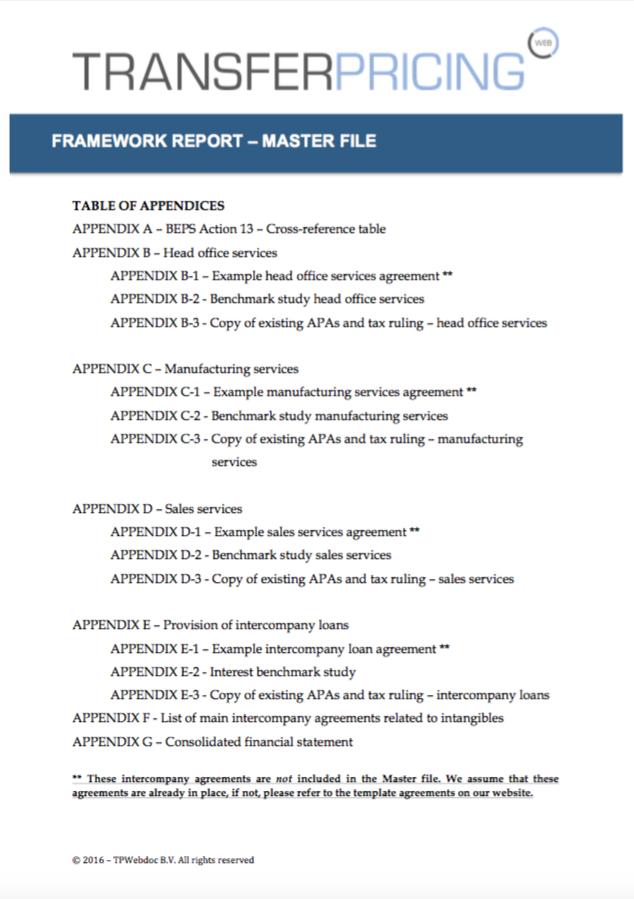 master file framework template